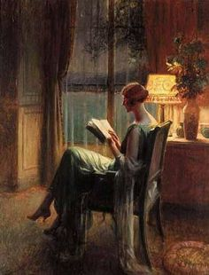 ✉ Biblio Beauties ✉ paintings of women reading letters and books - Delphin Enjolras