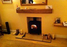 log burner Wood Stoves, Log Burner, House Warming, Lounge, Fire, House Design, Flooring, Decorating, Furniture