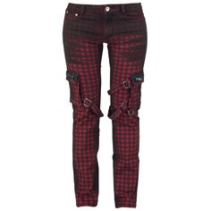 "Trousers ""Strap Pocket"" red-black • EMP"