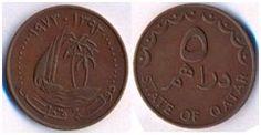 Qatar 5 Dirhem  1973