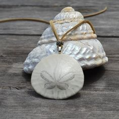 Real Sand Dollar Necklace by Mermaidincali on Etsy