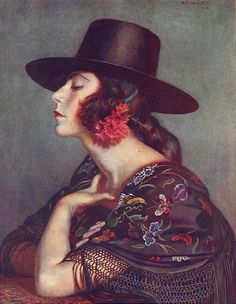 La Cordobesa, watercolor 1923 by George Owen Wynne Apperley (1884-1960)