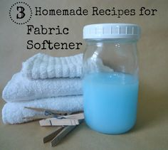 #1 – Homemade Fabric Softener With Conditioner Ingredients: 1 Cup Hair Conditioner 3 Cups Hot Water 1-1/2 Cups White Distilled Vinegar Put the cup of hair conditioner in a large mixing bowl.  Slowly add in the hot water, stirring as you go to get the two mixed together well.  Finally stir in the white vinegar.  Store in a covered container.  Use about 1/4 cup per load or use in a Downy Ball