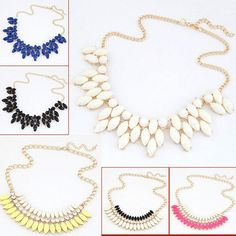 2.27€ - Fine Jewelry  Maxi Collares Statement Necklaces & Pendants Imitated Gemstone Collier Femme for Women - Your Cherish wholesale Co.,Ltd