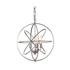 "Elegant Lighting 1453D20PN Vienna Collection Pendant Lamp D:20"""" H:22"""" Polished Nickel Finish"