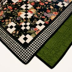 Floral and Modern Checkered Quilt
