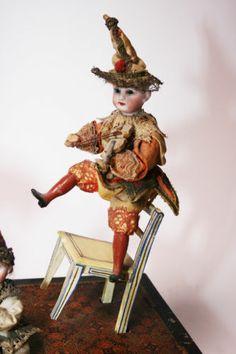 Gorgious Music Box Automaton Manivelle Box Antique Doll | eBay