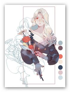 This helps me see the colors that are used within this drawing. Art Sketches, Art Drawings, Doodle Drawing, Digital Art Tutorial, Bd Comics, Pretty Art, Aesthetic Art, Art Tutorials, Art Inspo