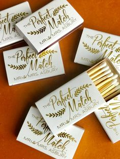 Wedding Matchboxes Wedding Matches Monogrammed Personalized Custom Matches Wedding Favor Perfect Match We Got Lit Sparks Flew Wedding Souvenirs For Guests, Creative Wedding Favors, Personalized Wedding Favors, Wedding Favors For Guests, Wedding Thank You Gifts, Wedding Tokens, Handmade Wedding, Wedding Guest Gifts, Wedding Cards