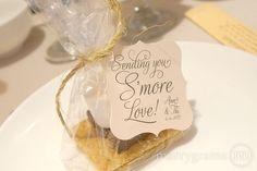 Sending You S'more Love Wedding Favor Tags Custom w Names & Date