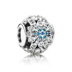 Pandora Silver Crystallised Snowflake Charm 791760NBLMX | T.H. Baker Family Jewellers