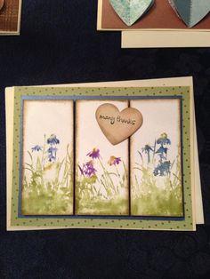 Handmade distress card/ thank you