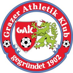 GAK Graz Crests, Austria, Badge, Middle, Club, Logos, Graz, Football Soccer, Badges