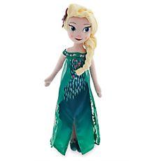 Elsa Plush Doll - Frozen Fever - Medium - 19''