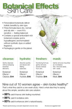 Botanical Skin Care for young or sensitive skin