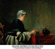 Chardin, La dame à la tasse de thé