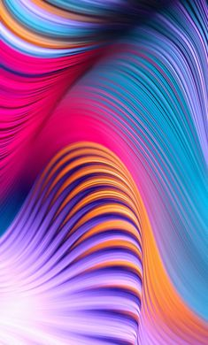 1280x2120 Colorful, abstract, art, waves wallpaper