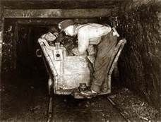 coal miners traveling underground every day to work.Tail End of Coal Car Trip Operator. Tie to Coal tv show for potential teaching point for practicality and modern use of coal Old Pictures, Old Photos, Coal Miners, Mina, Appalachian Mountains, Loire, West Virginia, American History, Kentucky