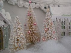 Fantastic idea to make them. Can never find white bottle brush trees in the store.
