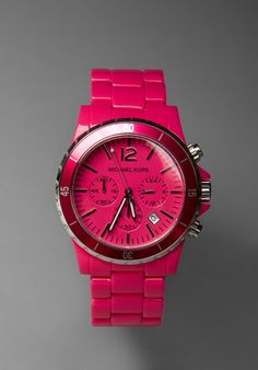 MICHAEL KORS Watch in Hot Pink at Revolve Clothing - Free Shipping!