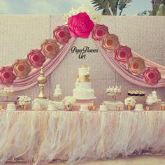 Set of 11 Decorative Paper Flower Wall - Wedding Wall Set - - Wedding Arch - Paper Flower Backdrop - Decorative Flowers