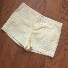 Gap yellow & white striped shorts size 2 excellent condition! Size 2 GAP Shorts