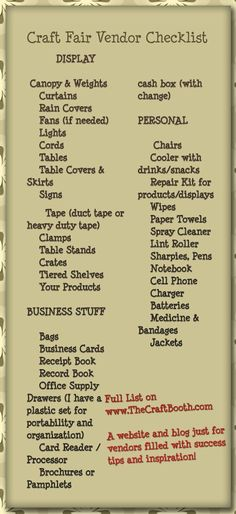 Craft Fair Vendor Sales Tips and Booth Ideas                                                                                                                                                                                 More