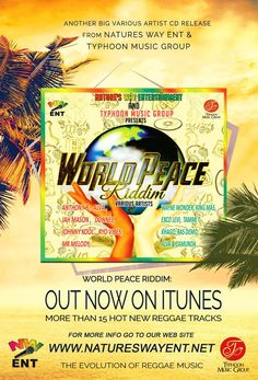 """Nature's Way Ent & Typhoon Music Group Score Big with """"World Peace Riddim"""" - http://www.yardhype.com/natures-way-ent-typhoon-music-group-score-big-with-world-peace-riddim/"""
