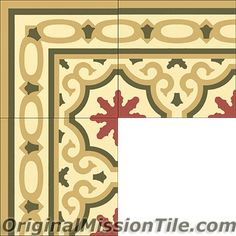 Handmade Bocassio Border Cement Tile Design by Original Mission Tile - all cement tiles can be customized to create your own tile according to your project's specs and tile colors