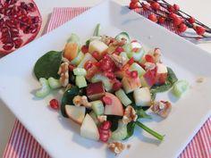 Fiberrik salat med spinat