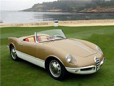 Alfa Romeo Giuletta Sprint Spider Prototype 004 Bertone 1955. ✏✏✏✏✏✏✏✏✏✏✏✏✏✏✏✏ IDEE CADEAU / CUTE GIFT IDEA ☞ http://gabyfeeriefr.tumblr.com/archive ✏✏✏✏✏✏✏✏✏✏✏✏✏✏✏✏