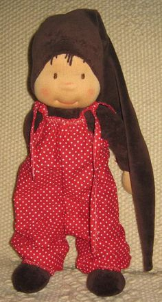 Adorei o macacão  For handmade dolls that have interchangeable eyes and mouths, visit jessicadolls.com!
