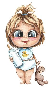 Fairy Drawings, Cartoon Drawings, Cute Drawings, Black Art Painting, Baby Posters, Body Sketches, Baby Illustration, Boy Drawing, Belly Painting