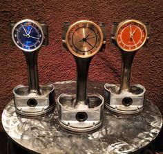 Repurposed SBC Piston Clocks от TrentsKustoms на Etsy
