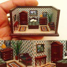 Miniature Rooms, Miniature Crafts, Miniature Houses, Miniature Furniture, Dollhouse Furniture, Polymer Clay Miniatures, Dollhouse Miniatures, Fun Crafts, Diy And Crafts