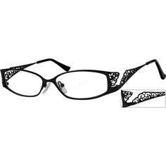 A medium size, hypoallergenic stainless steel full-rim frame with design on temples....Price - $25.95