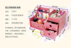 Europa del organizador del maquillaje caja de madera caja de almacenamiento de cosméticos cajón cuadro de bricolaje de almacenamiento de escritorio grande remoto organizador cosmético en Almacenamiento y Organización de Casa y Jardín en AliExpress.com | Alibaba Group