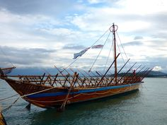 A working replica of the ship from the legend of Jason and the Argonauts in Volos, Greece