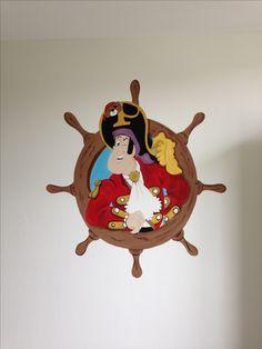 Piet piraat muurschildering gemaakt door joan of arts muurschilderingen