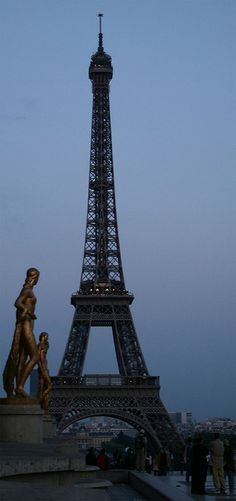 Eiffel Tower at night from Trocadero, Paris #LadyLuxuryDesigns