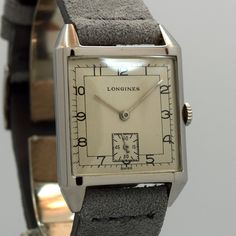 1947 Vintage Longines Square-shaped Steel Watch