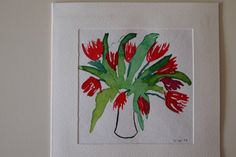 Watercolour Tulips ind Spring.