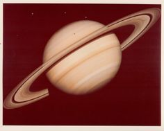 Saturn, photographed by Voyager 1, 1980