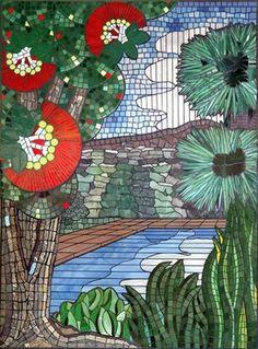 nz landscape mosaic art