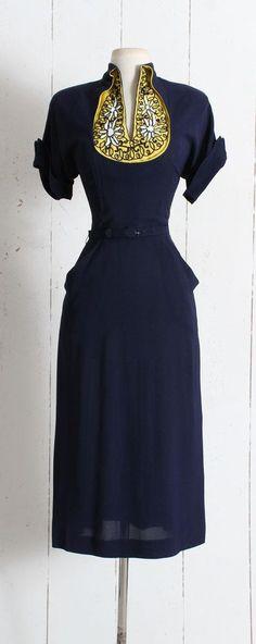 Vintage 1940s Dress vintage 40s Original Franklin dress