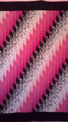 Diamond bargello my new favorite quick and easy quilt to make on the weekend