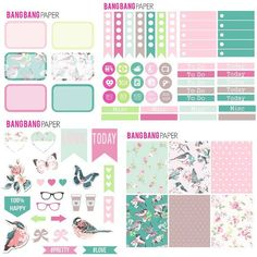 SPRING FLING -  Erin Condren Planner Stickers, Happy Planner, Planner Accessory Kit, Functional Stickers, Decorative Stickers