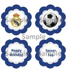 Real Madrid Cupcake Toppers