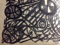 BBallで遊んでいる途中の図。 #blackandgrey #drawing #bball #basketball #hoop #art #pen #pencil #oilpastel #black #まだ途中
