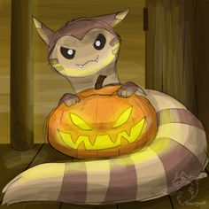 "racingwolfart: "" Pokehalloween - Day 7 - A Skinny Pokemon Now it's furret! Ghost Type Pokemon, Pokemon Pins, Pokemon Fan Art, All Pokemon, Cute Pokemon Wallpaper, Cute Pikachu, Pokemon Special, Kawaii, Fans"